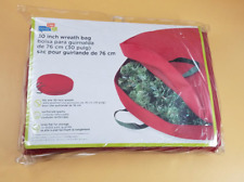 Honey-Can-Do 30-inch Canvas Wreath Storage, Red - NEW!!