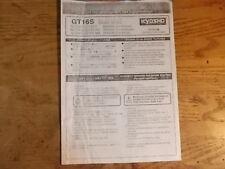 GT16S Nitro Engine Instructions (Photo Copy) - Kyosho GT16S GT-16S Nitro Engine