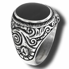 Onyx Stainless Steel Fashion Rings