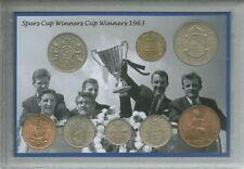 Tottenham Hotspur Spurs vintage rétro gagnants coupe d'europe pièce ensemble cadeau 1963