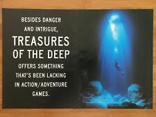 Treasures of the Deep PS1 PSX Playstation 1 Vintage Poster Ad Print Art RARE
