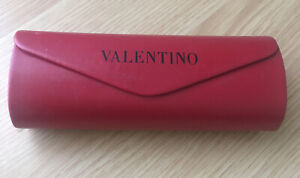 Valentino Red Leather Hard Glass Case- Magnetic Closure- #1493