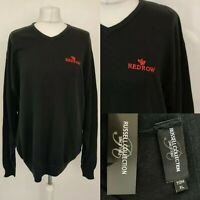 REDROW Housing Men's Jumper Company Uniform Logo Slogan Black Size XL Russel NEW