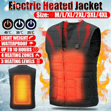 Unisex Heated Vest Electric Jacket Coat USB Warm Heat Pad Winter Body Warmer