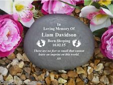 Grave Marker - Large Pebble (Stone Effect).  Personalised - Weatherproof - BabyF