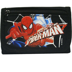 Spiderman Authentic Licensed Trifold Black Wallet for Children