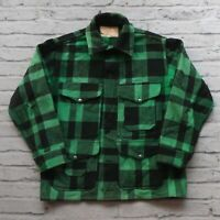 Vintage 60s Filson Plaid Wool Mackinaw Jacket Union Made M L Made in USA Green