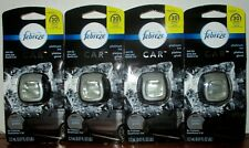 Febreze Car Air Freshener  Platinum ice 0.07 oz clip 4 clips new in package