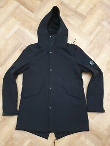 100% Genuine CP Company Stretch Nylon Shell Black Waterproof Jacket- 52 XL
