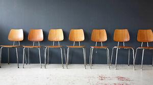 1 (7) Vintage 60er Stuhl Teak Danish Mid-Century 60s Chair 50er 50s