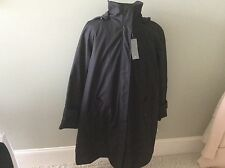 Andrew Marc  Caroll All Weather Trench Coat Black New Removeable Lining Hood 2XL