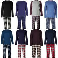 Men's M&S Marks and Spencer Pure Cotton Pyjamas PJ's Long Pants Set RRP £27.50