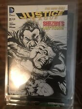 New 52 JUSTICE LEAGUE #21 B&W 1:100 Variant 1st Marvel Family Cgc It, Pics