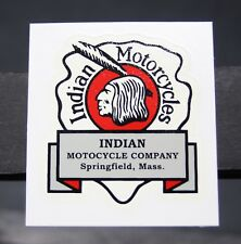 "NOS NEW old repro USA made INDIAN DEALER DECAL - 2"" X 2"" Waterslide as original"