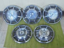 "66 67 68 69 Chevrolet Corvair HUB CAPS 13"" Set of 5 Chevy Wheel Covers Hubcaps"