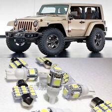 13×White LED Interior Lights Package Kit for jeep wrangler sport unlimited 07-13