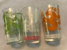 3 Different 1950's Davy Crockett Jelly Jars