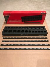 Snap On 3/8 Magnetic Socket Holder Metric And Imperial In Black NEW