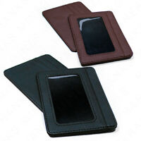 Mens Slim Leather Wallet Card Holder Window Credit Cash ID Pocket Thin Minimal