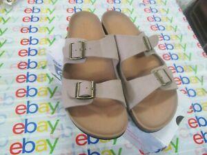 Skechers Women's Granola Cork Footbed Two Strap Sandal with Luxe Foam Size10 NWB