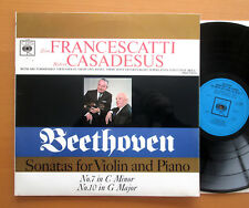 BRG 72380 FRANCESCATTI CASADESUS Beethoven VIOLIN SONATAS 7 & 10 CBS MONO EX/EX