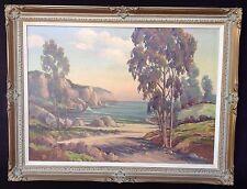 Vintage Calif Landscape Painting Listed Signed Oliver Glen Barrett (1903-1970)