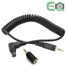 N3 Remote Shutter Connect Cable for Canon 5DII 5DIII 7D 6D D60 D30 1V 2.5-3.5mm