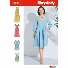 Simplicity Sewing Pattern 8910 Misses 6-14 Loose Fitting Dresses inc Maxi Pocket