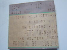 Pete Townshend Wiltern La 7/30/93 concert ticket