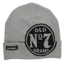 Jack Daniels Men's Beanie Snow Cap Hat, Grey Old No. 7 Brand. JD77-109