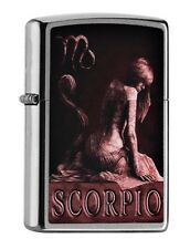 "ZIPPO 2016 NEW !! ""ZODIAC SCORPIO"" SATIN LIGHTER / 60000929 *in BOX* HOROSCOPE"