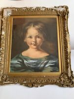 ANTIQUE WATERCOLOR PORTRAIT MASTER PIECE PAINTING