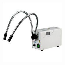 AmScope HL250-AY 150W Fiber Optic Dual Gooseneck Microscope Illuminator