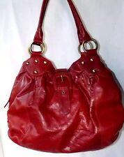 TOMMY AND KATE large size dark red shoulder bag handbag