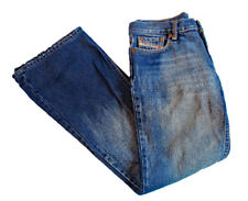 Women's Diesel Distressed Sandblasted Boot Cut/Flare Jeans Type RR55 Size 28 EUC