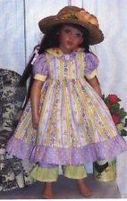 """Pattern fits 16"""" Kish doll Sundress pinafore pantaloons bloomers jacket"""