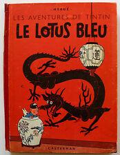 TINTIN/ LE LOTUS BLEU/ Edition originale B 1/ 1946/ Etat correct+