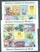 St Vincent & Grenadines 1996 Disney characters  at Work 6 sheets of 7 or  8 MNH