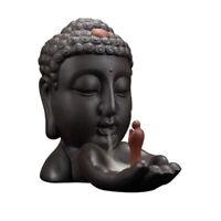 1X(Quemador de Incienso Cerámica La Basura Monje Buda Incensario Quemador d 9Y8)
