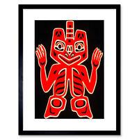 Native American Blanket Figure Haida People Canada Framed Wall Art Print