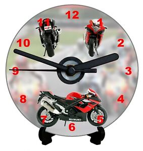 DIY CD Clock KIT of a Suzuki Motorbike can be used as a Wall or Desk Clock