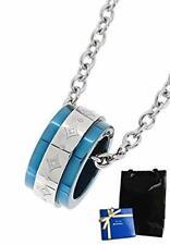 fe-fe×phiten special Ring diamond pattern Titanium Blue Men's Necklace FBJ-FP-11