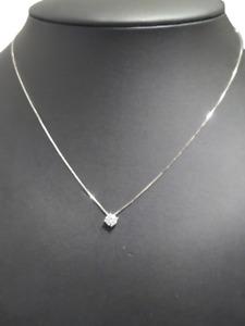 Collana Donna Argento 925 Ciondolo Punto Luce Zircone Bianco