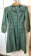 40's/50's Vintage Girl Scout Leader Teenage Woman Uniform Dress S/Med (E1)