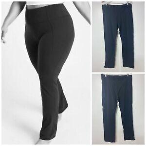 Athleta Powervita Straight Leg Yoga Pants Black Women's Size Plus 2X