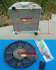 3 ROW aluminum radiator + Fan FOR Ford 1932 hot rod w/Chevy 350 V8 engine AT