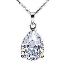 Bling Classic Design Cubic Zirconia CZ Pear Shape Tear Drop Pendant necklace