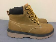 Mossimo Target men ankle lace up man made materials yellow Boots size US 8