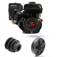 For Honda GX160 OHV Gas Engine 7.5HP 210cc Horizontal 168F 170F + 20mm Clutch