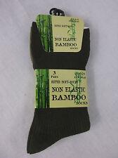 Mens Non Elastic Bamboo Socks Mens Diabetic Non Elastic Bamboo Socks 3 Pairs New